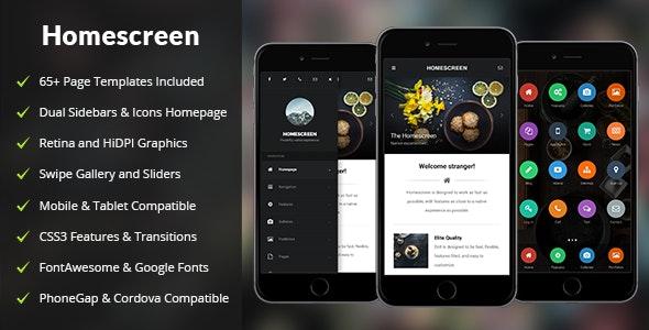 Homescreen Mobile - Mobile Site Templates