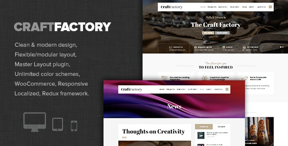 Craft Factory - Arts & Hobby Business WP Theme - Business Corporate