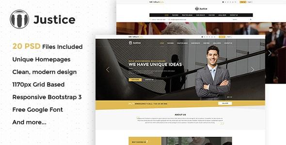 Justice - Multipurpose Business PSD Template - Creative PSD Templates