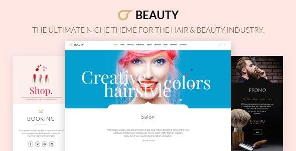 Hair Salon - Hairdresser WordPress - Health & Beauty Retail