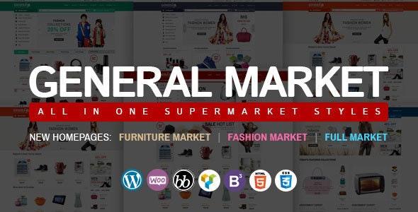 WooCommerce Responsive Premium Theme | WP General Mart eCommerce Websites - WooCommerce eCommerce