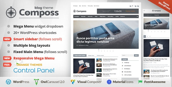 Composs - Elegant Blog, Magazine & News Theme - Blog / Magazine WordPress