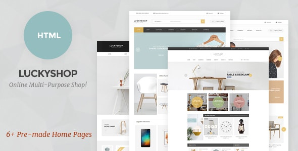 LuckyShop - Multi-Purpose HTML Template - Shopping Retail