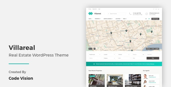 Villareal - Real Estate WordPress Theme - Real Estate WordPress
