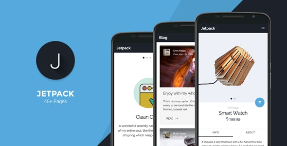Jetpack - Mobile Template - Mobile Site Templates
