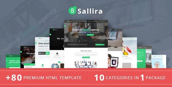 Sallira Multipurpose Startup Business Template - Corporate Site Templates