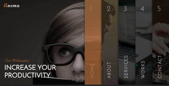 Anema - Creative OnePage & MultiPage Template