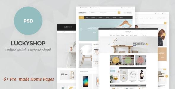 LuckyShop - Multi-Purpose PSD Template - Shopping Retail