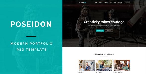 Poseidon : MultiPurpose PSD Template - Marketing Corporate