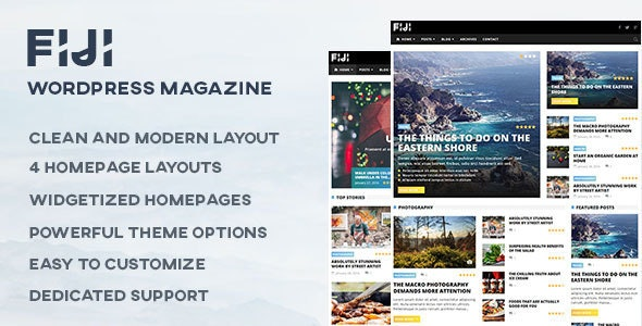 Fiji - WordPress Magazine and Blog Theme - Blog / Magazine WordPress