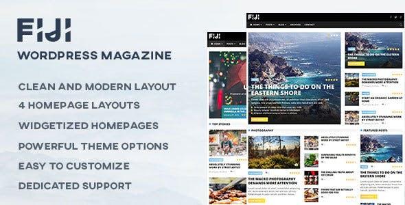 Fiji - WordPress Magazine and Blog Theme
