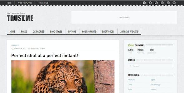 TrustMe - Responsive WordPress Magazine / Blog