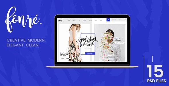 Fonre - Creative & Modern Online Shop PSD Template - Fashion Retail