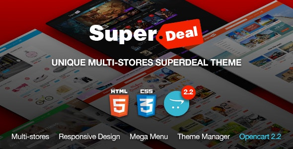 SuperDeal - Coupons Directory Responsive OpenCart Theme - Shopping OpenCart