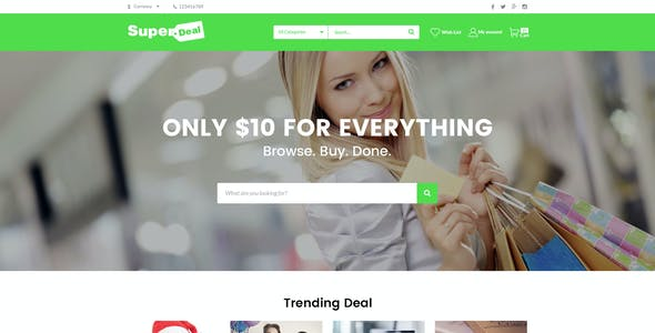 SuperDeal - Coupons Directory Responsive OpenCart Theme