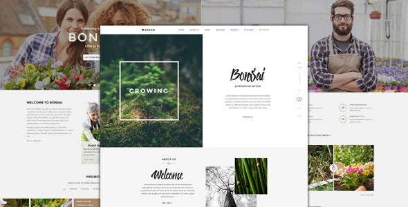 Bonsai - PSD Template for Landscapers & Gardeners - Business Corporate