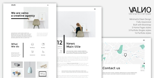 Valno - Minimal Creative Multi page Portfolio Template - Creative Site Templates