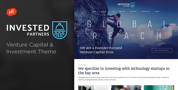 Invested - Venture Capital & Investment Theme - Business Corporate