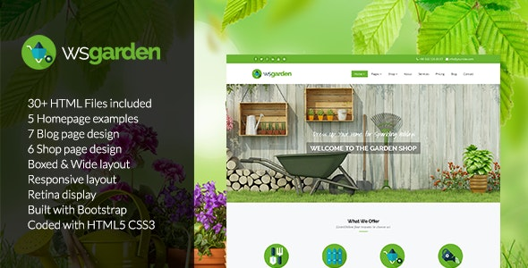WS Garden - Responsive Gardening Drupal 7.6 Theme - Business Corporate