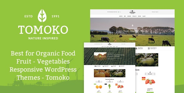 Organic Food/Fruit/Vegetables Responsive WordPress Theme - Tomoko - Food Retail