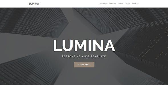 Lumina - Responsive Muse Template for Creatives & Agencies