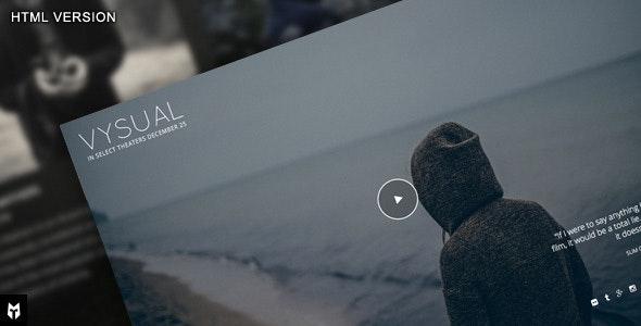 VYSUAL: Responsive Film Campaign HTML Template  - Film & TV Entertainment