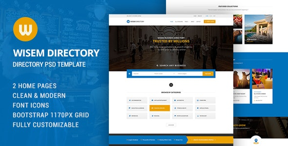 Wisem - Directory PSD - Corporate Photoshop