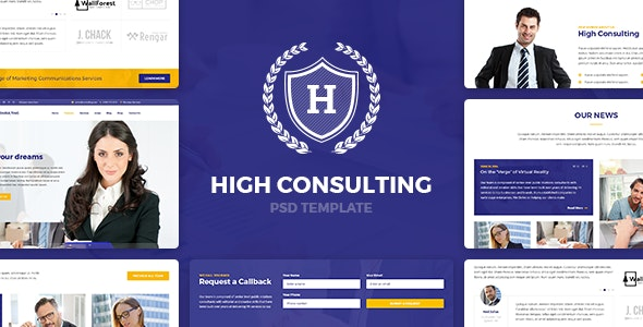 High Consulting - PSD Template - Business Corporate