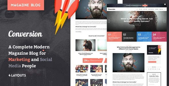 Ultimate Conversion - Digital Marketing Magazine Blog Theme - Personal Blog / Magazine