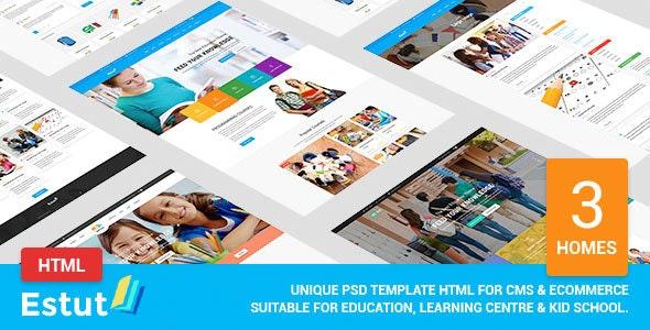 Estut - Educational Material Design HTML Template - Nonprofit Site Templates
