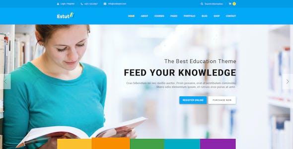 Estut - Educational Material Design HTML Template