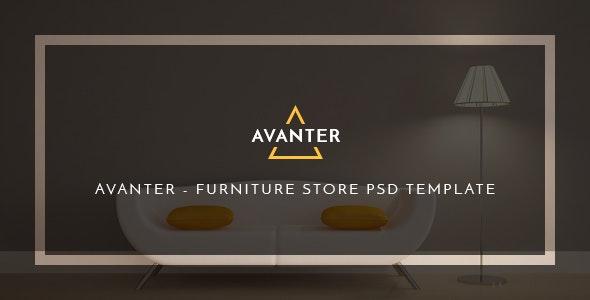 Avanter - Funiture Store PSD Template - PSD Templates