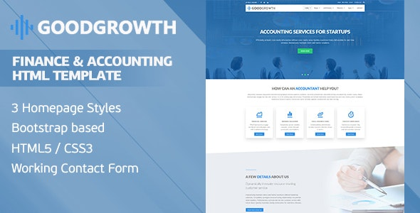 GoodGrowth - Finance & Accounting HTML Template - Business Corporate