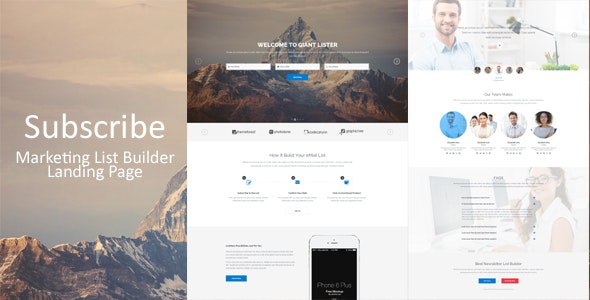 Subscribe - Marketing List Builder Landing Page - Marketing Corporate