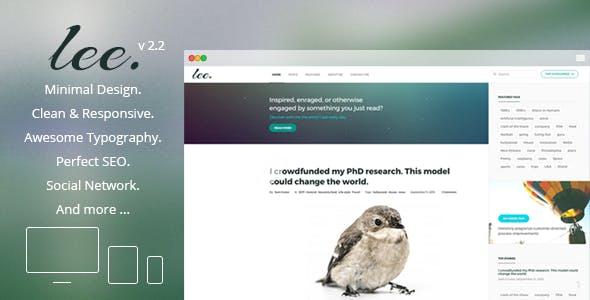 Lee Blog. Minimal and Creative WordPress Theme
