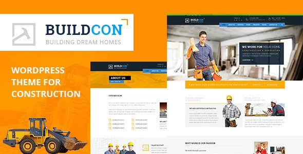 Buildcon - Construction and Renovation WordPress Theme - WordPress