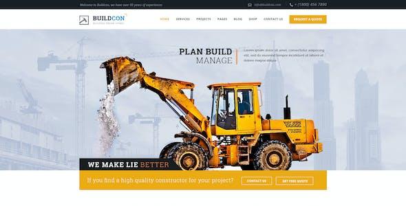 Buildcon - Construction and Renovation WordPress Theme