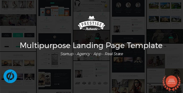 Prestige - Multipurpose Landing Pages Template - Unbounce Landing Pages Marketing