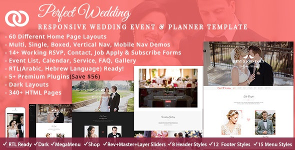 Wedding Planner - Wedding Site Templates