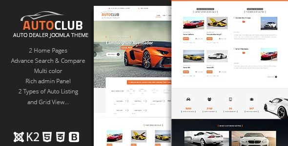 Auto Club - Responsive Car Dealer Joomla Template - Joomla CMS Themes