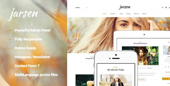 Jarsen - Classic Blog WordPress Theme - Blog / Magazine WordPress