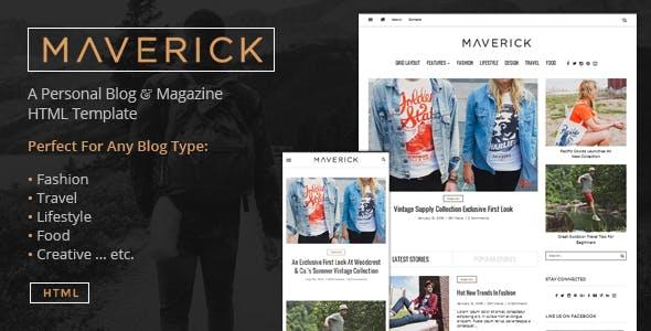 Maverick - Multipurpose HTML Blog Magazine