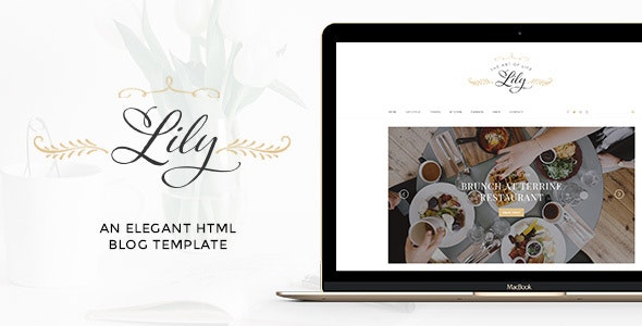 Lily - Elegant Blog HTML Template - Personal Site Templates