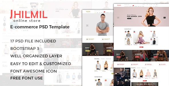 Jhilmil - eCommerce PSD Template - Fashion Retail