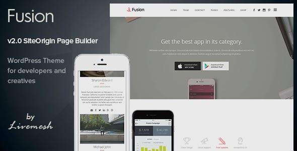 Fusion - Mobile App Landing WordPress Theme