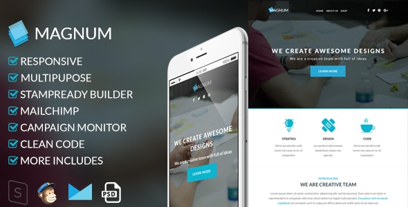 Magnum - Responsive Email Template - Newsletters Email Templates
