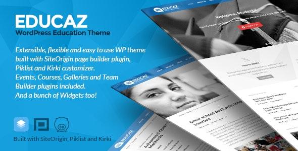 Educaz - WP academic - education theme - Education WordPress