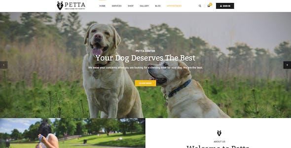 Petta - Premium Pet Care PSD Template