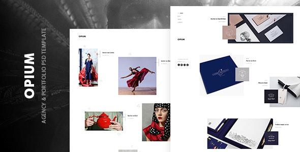 Opium - agency & portfolio psd template - Portfolio Creative