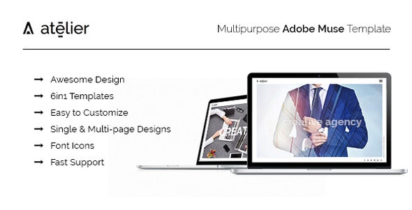Atelier-Multipurpose Adobe Muse Template - Creative Muse Templates